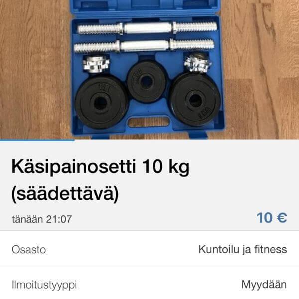 Käsipainot Tori.fi palvelussa